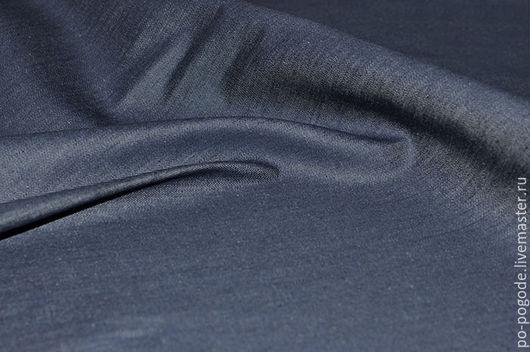 Шитье ручной работы. Ярмарка Мастеров - ручная работа. Купить Джинсовая ткань стрейч  Max Mara. Handmade. Синий