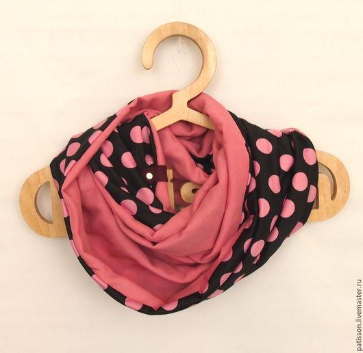 """Шарфы и шарфики ручной работы. Ярмарка Мастеров - ручная работа. Купить Копия работы Шарф-хомут """"Розовый горох"""". Handmade."""