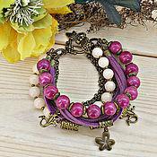 Украшения handmade. Livemaster - original item Multi-row women`s bracelet with stones