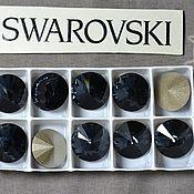 Материалы для творчества handmade. Livemaster - original item 1 PCs 12mm Rivoli Graphite 253 Swarovski Rivoli Swarovski. Handmade.