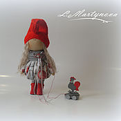 Куклы и игрушки handmade. Livemaster - original item Doll textile interior. Christmas girl with Cock. Handmade.