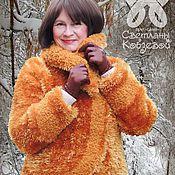 Одежда ручной работы. Ярмарка Мастеров - ручная работа Зимние комплекты: шубка вязанная+  юбка. Handmade.