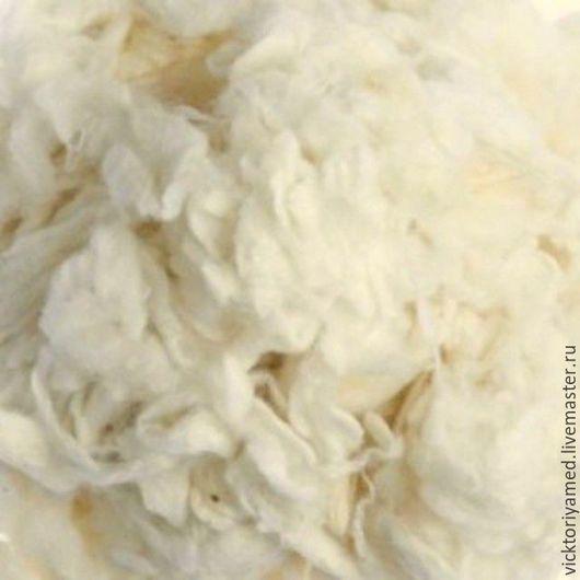 Валяние ручной работы. Ярмарка Мастеров - ручная работа. Купить Слабсы шерстяные 10 гр натуральный белый. Handmade. Белый