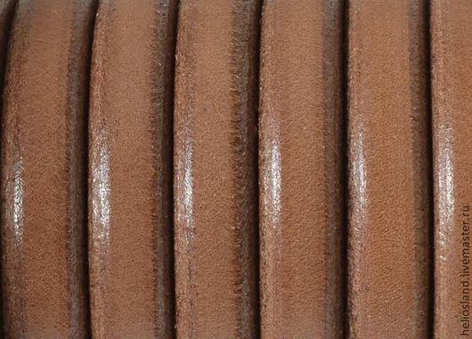 Для украшений ручной работы. Ярмарка Мастеров - ручная работа. Купить Кожаный шнур REGALIZ, св.коричневый. Handmade. Регализ
