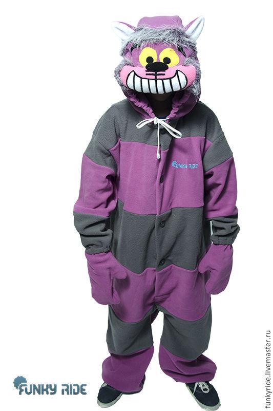 Cheshire Cat Kigurumi - Custom Handmade - Anti-pill Fleece Pyjamas - Unisex costume - for Adult and Children -high quality