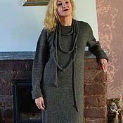 Одежда handmade. Livemaster - original item Dress Evening walk TWEED YarnArt. Handmade.
