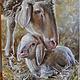 """Животные ручной работы. Ярмарка Мастеров - ручная работа. Купить """"Рождение новой жизни"""". Handmade. Овечка, животные, картина в подарок"""