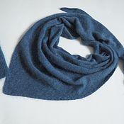 Аксессуары handmade. Livemaster - original item scarves: Scarf knitted from mink/angora blue melange scarf fluffy. Handmade.
