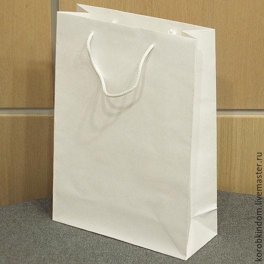 Упаковка ручной работы. Ярмарка Мастеров - ручная работа. Купить 25х35х10 - пакет белый ламинированный с ручками веревочными. Handmade. Пакет