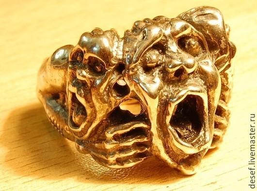 """Подарки для мужчин, ручной работы. Ярмарка Мастеров - ручная работа. Купить Печатка """"Страх"""". Handmade. Серебряный, печатка, ювелирные украшения"""
