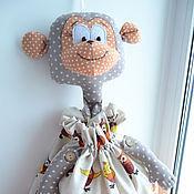 Для дома и интерьера ручной работы. Ярмарка Мастеров - ручная работа Пакетница обезьянка. Handmade.