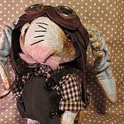Куклы и игрушки ручной работы. Ярмарка Мастеров - ручная работа Заяц  авиатор. Handmade.