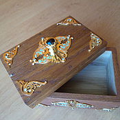 Для дома и интерьера handmade. Livemaster - original item Casket box handmade decorated with gold, with jewels, painted with enamel. Handmade.
