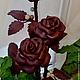 Подарки для влюбленных ручной работы. Ярмарка Мастеров - ручная работа. Купить Розы из кожи цвета бордо. Handmade. Бордовый