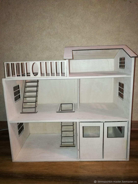Кукольный дом трехэтажный 50х50х25 см, Кукольные домики, Рязань,  Фото №1