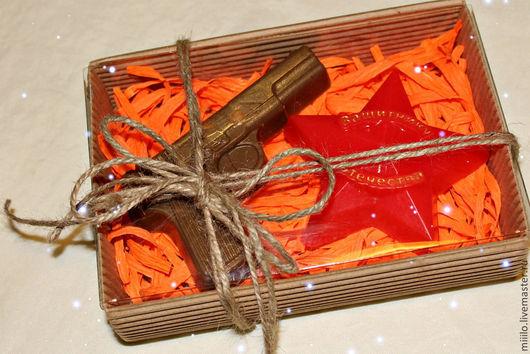 Мыло ручной работы. Ярмарка Мастеров - ручная работа. Купить подарочный набор на 23 февраля №4. Handmade. мыльный подарок