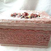 Хранение вещей ручной работы. Ярмарка Мастеров - ручная работа Хранение вещей: интерьерная коробка. Handmade.