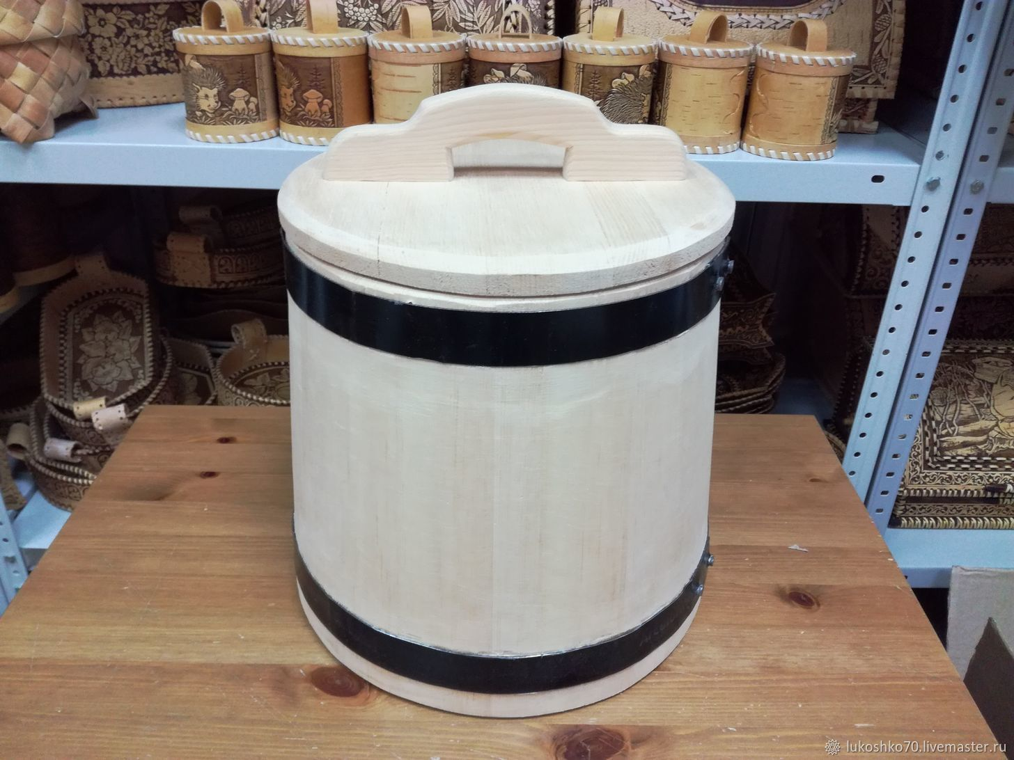 Cedar tub for salting 15 liters. Barrel for pickles, Barrels and tubs, Tomsk,  Фото №1