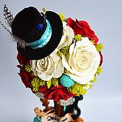 """Цветы и флористика ручной работы. Ярмарка Мастеров - ручная работа Авторский топиарий """"Алиса в стране чудес"""". Handmade."""