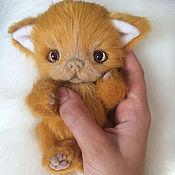 Куклы и игрушки handmade. Livemaster - original item Ginger kitten Teddy. Handmade.