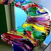 Для дома и интерьера handmade. Livemaster - original item mirror, glass, fusing HEAVEN. Handmade.
