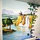 Декор поверхностей ручной работы. Ярмарка Мастеров - ручная работа. Купить Роспись стены на кухне. Handmade. Разноцветный, природа