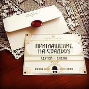 """Свадебный салон ручной работы. Ярмарка Мастеров - ручная работа Приглашения в стиле """"Великий Гэтсби"""". Handmade."""