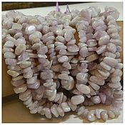 Материалы для творчества handmade. Livemaster - original item Kunzite stone crumb Brazil, 40 cm. Thread. Handmade.