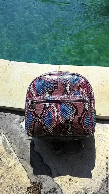 Женские сумки ручной работы. Ярмарка Мастеров - ручная работа. Купить Рюкзачок мультицвет. Handmade. Разноцветный, рюкзак из кожи