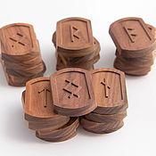 Фен-шуй и эзотерика handmade. Livemaster - original item Nordic runes made of wood rosewood Santos. Handmade.