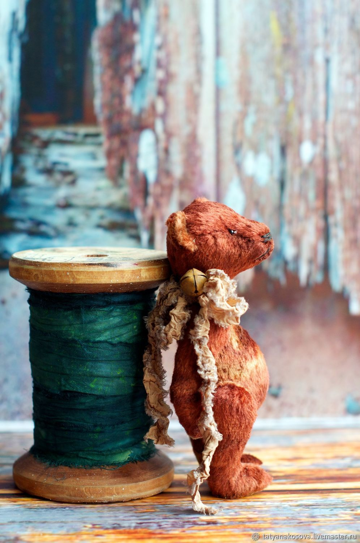 Little Teddy Bear Artist Toy with Scarf Mr.Shorty, Teddy Bears, Kazan,  Фото №1