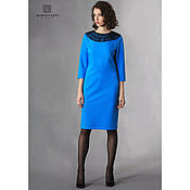 Одежда handmade. Livemaster - original item A dress with a lace collar, turquoise. Handmade.