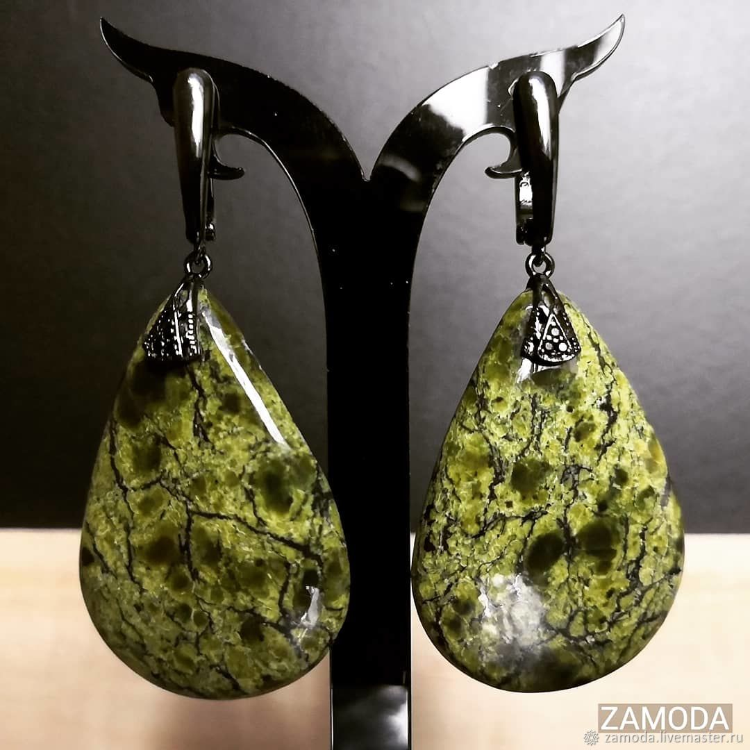Serpentinite coil earrings, Earrings, Kotelniki,  Фото №1