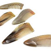 Русский стиль handmade. Livemaster - original item Comb from the horn of a Buffalo 10-12 cm. Handmade.