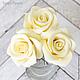 Заколки ручной работы. Ярмарка Мастеров - ручная работа. Купить Шпильки с розами (средние) - Айвори кремовый. Handmade. Украшение для волос