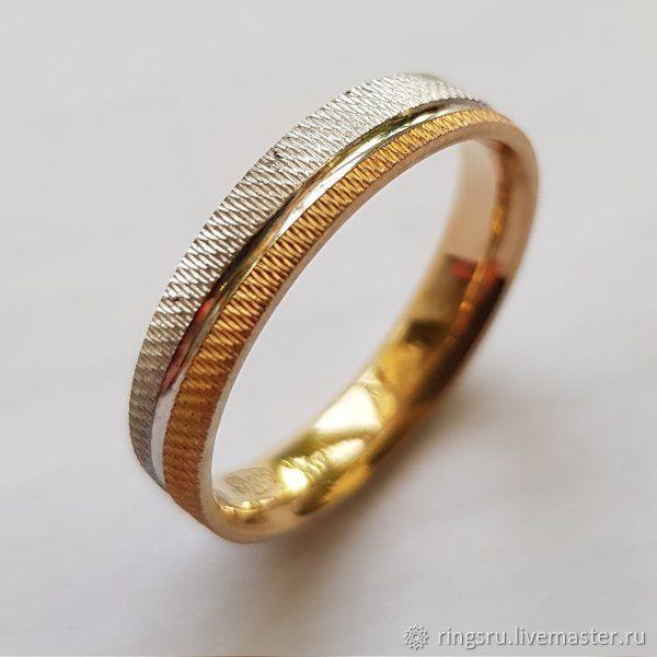 Свадебные украшения ручной работы. Ярмарка Мастеров - ручная работа. Купить Кольцо обручальное золотое. Handmade. Золото, кольцо