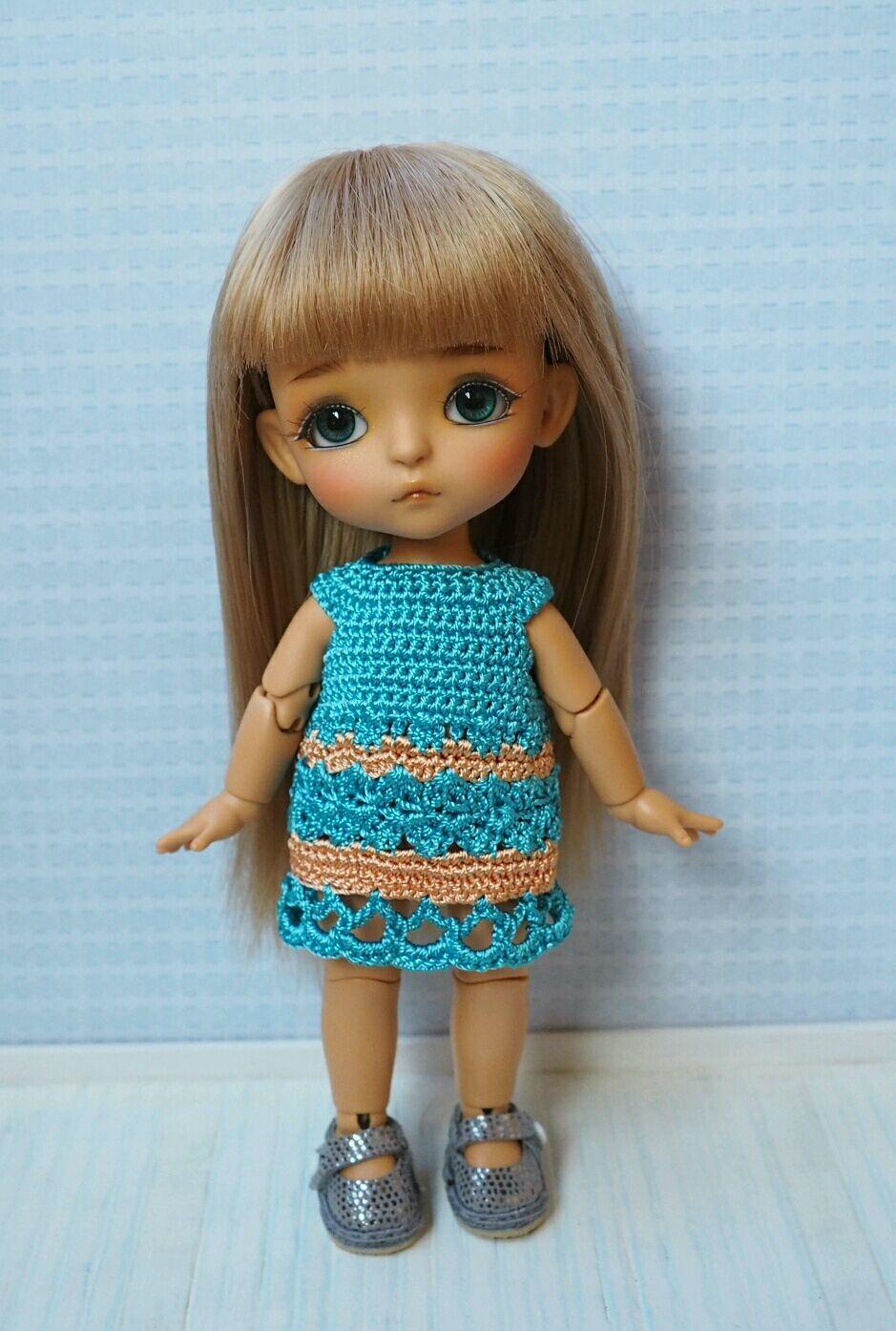 Одежда для кукол ручной работы. Ярмарка Мастеров - ручная работа. Купить Платье на куколку 16см (Lati Yellow). Handmade.