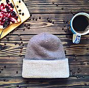 Аксессуары ручной работы. Ярмарка Мастеров - ручная работа Двухсторонняя двойная удлиненная шапочка бини. Handmade.