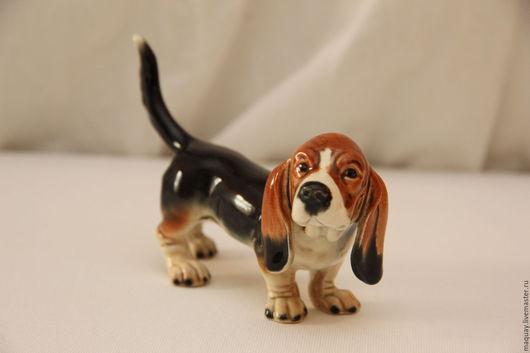 Винтажные предметы интерьера. Ярмарка Мастеров - ручная работа. Купить Статуэтка Goebel собака Бассет Хаунд, Германия винтаж 70. Handmade.