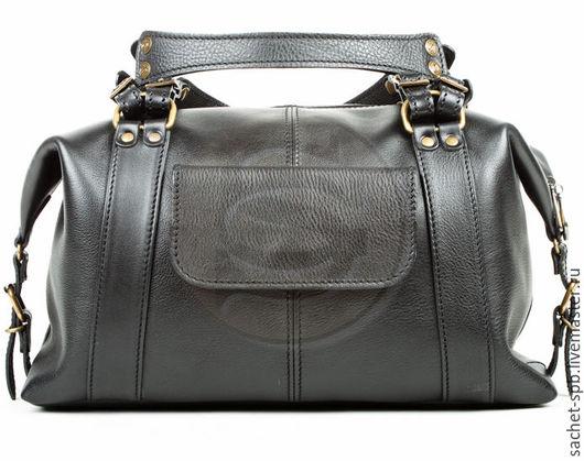 Женские сумки ручной работы. Ярмарка Мастеров - ручная работа. Купить Женская кожаная сумка Эколь черная. Handmade. Черный
