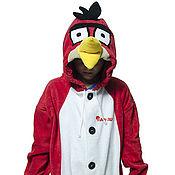 Cosplay costumes handmade. Livemaster - original item Costume kigurumi fleece Angry birds. Handmade.