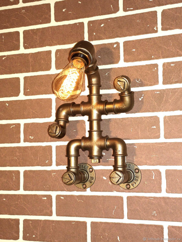 Настенный светильник (бра) в стиле Лофт (Loft), Индастриал, Стимпанк, Бра, Москва, Фото №1