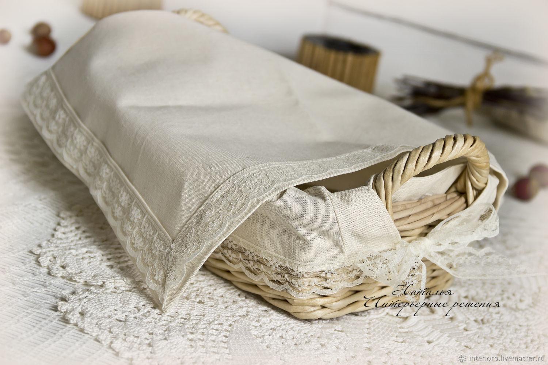 Корзина плетеная для дома для подачи хлеба в наборе с салфеткой, Корзины, Брянск, Фото №1