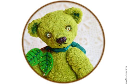 Мишки Тедди ручной работы. Ярмарка Мастеров - ручная работа. Купить Зеленое Яблоко или Гренни Смит мишка Тедди. Handmade.