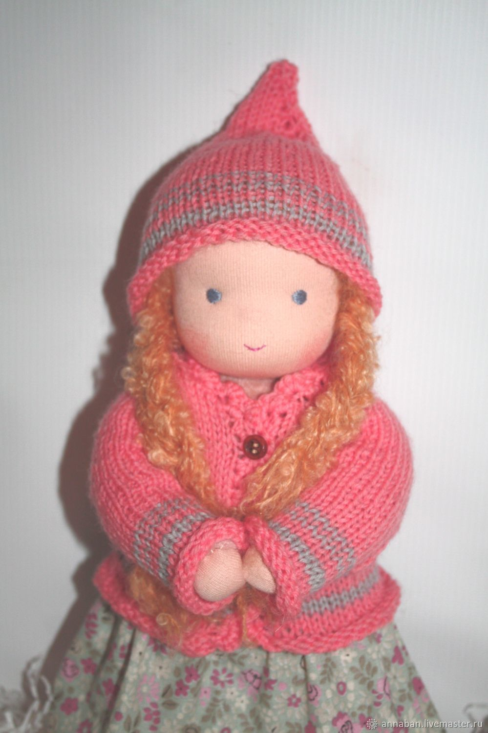 Baby doll in sewn overalls 32 cm, Toys, Kaluga, Фото №1