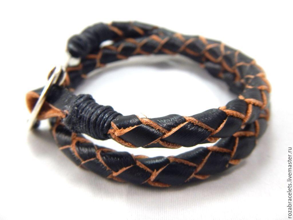 Женский браслет из кожи