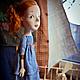 Коллекционные куклы ручной работы. Заказать Рыжая в голубом. Мурашова Наталья. Ярмарка Мастеров. Девочка, трессы