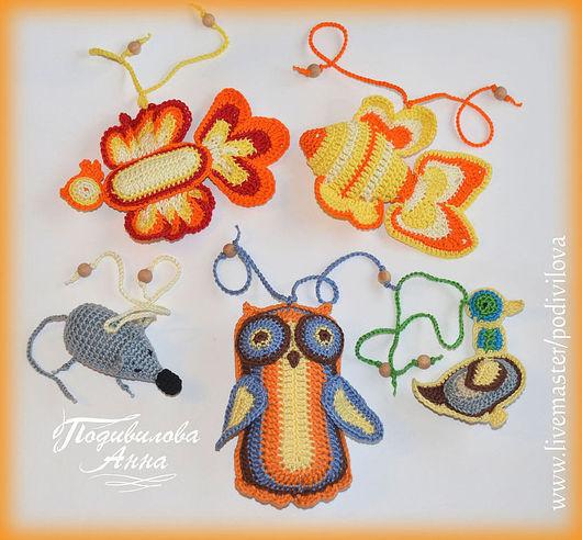 """Игрушки животные, ручной работы. Ярмарка Мастеров - ручная работа. Купить Вязаные игрушки(комплект)""""Сказка"""",амигуруми,слингоигрушки. Handmade. Оранжевый"""
