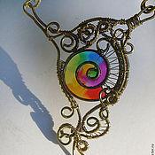 "Украшения handmade. Livemaster - original item Колье из латуни ""Радужный цветок"". Handmade."