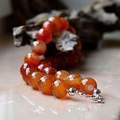 Украшения handmade. Livemaster - original item Carnelian. beads. Beads 20 mm. Handmade.